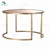 home decoration table fancy glass coffee table