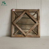 Home decorative hand carved reclaimed wood antique mirror