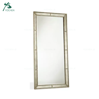 Antique living room gold floor mirror with free standing
