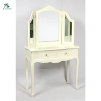 Modern French White Wood Dressing table