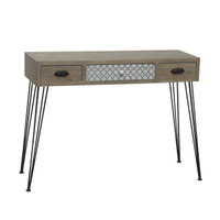 hair pin metal leg solid wood console table modern for living room