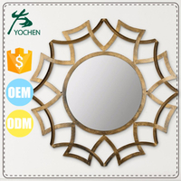 metal mirrors makeup Mirror geometric decor