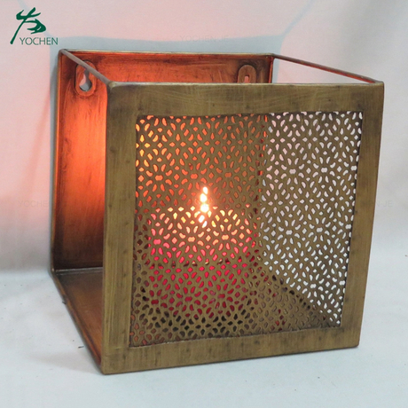 Iron Hollow Candlestick Candle Holder Creative Tea Light Holder