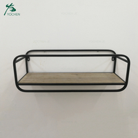 Floating Living Room Metal Black Corner Wall Shelf