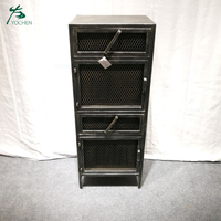 metal black handpainted old style storage metal cabinet