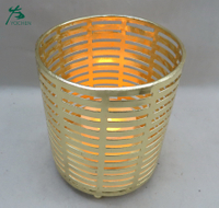 China manufacturer supply customized metal gold candle holder