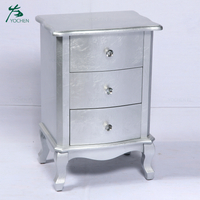 antique french style furniture shining silver color wooden cabinet