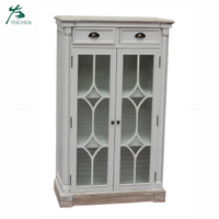 shabby chic wood furniture antique white corner wine cabinet