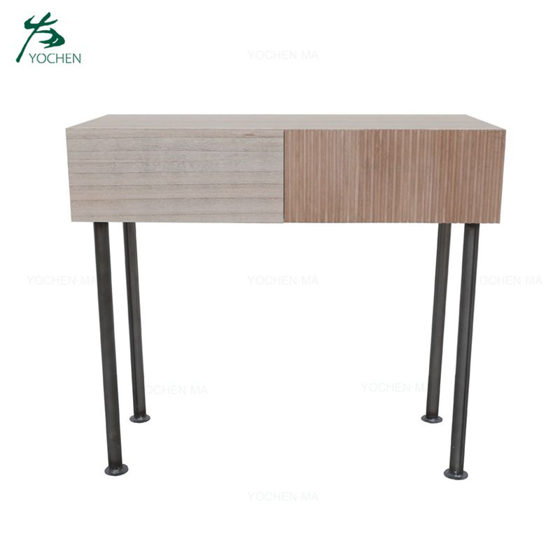 Modern Design Home furniture living room wrought console table with metal legs