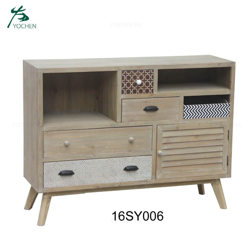 Multifunction home furniture wooden cabinet with drawers