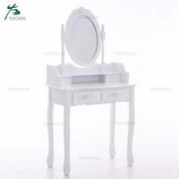 cheap vanity modern girl white wood simple dressing table with drawer