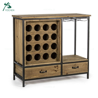 Wholesale Livingroom Display Wooden Furniture Wine Bottle Rack