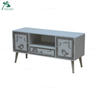 living room hand painting wooden tv stand