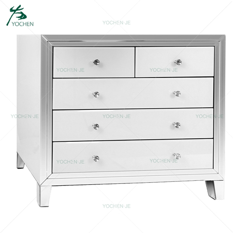 wooden chest large mirrored drawer chest furniture