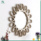 customized luxury resin gold decorative fancy wall mirror frame