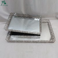 Barn Mirrored Dresser Top Tray Jewelry Perfume Tray