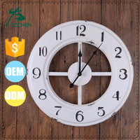interior decoration wholesale white hanging wall clock