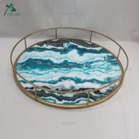 Houseware decoration metal MDF marble plate