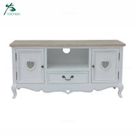 living room cabinet wood panel white TV cabinet design