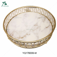 living room decorative marble serving tray