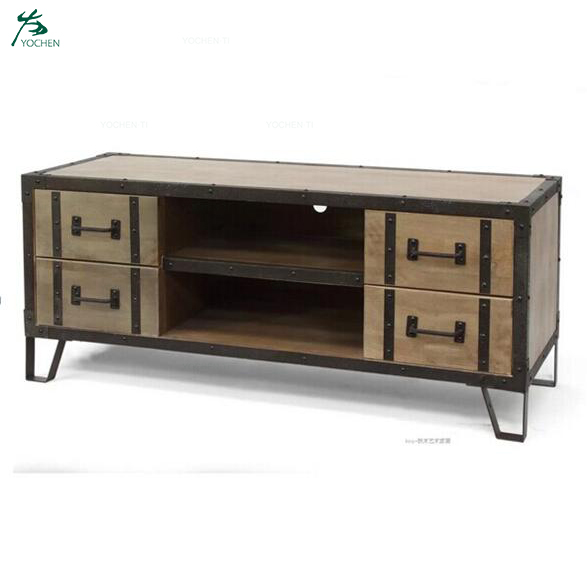 Living Room Industrial Style Corner Cabinet Industrial Style TV Stand