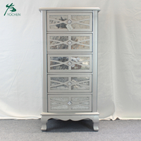 living room vintage furniture handmade mirrored tallboy cabinet