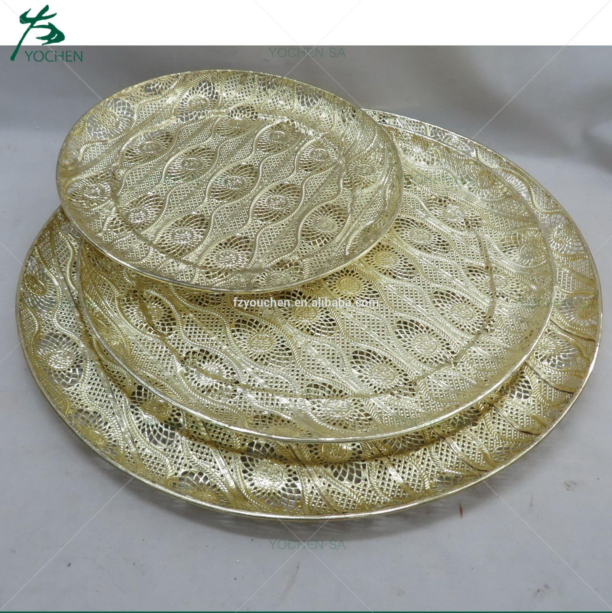 wholesale square metal decorative tray