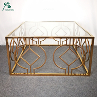 new design modern glass top coffee table