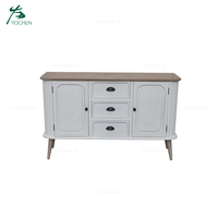 Home decor buffet cabinet furniture white wood sideboard