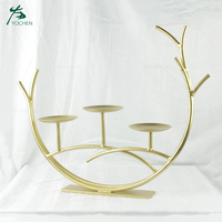 Home Deco brass metal gold candle holder
