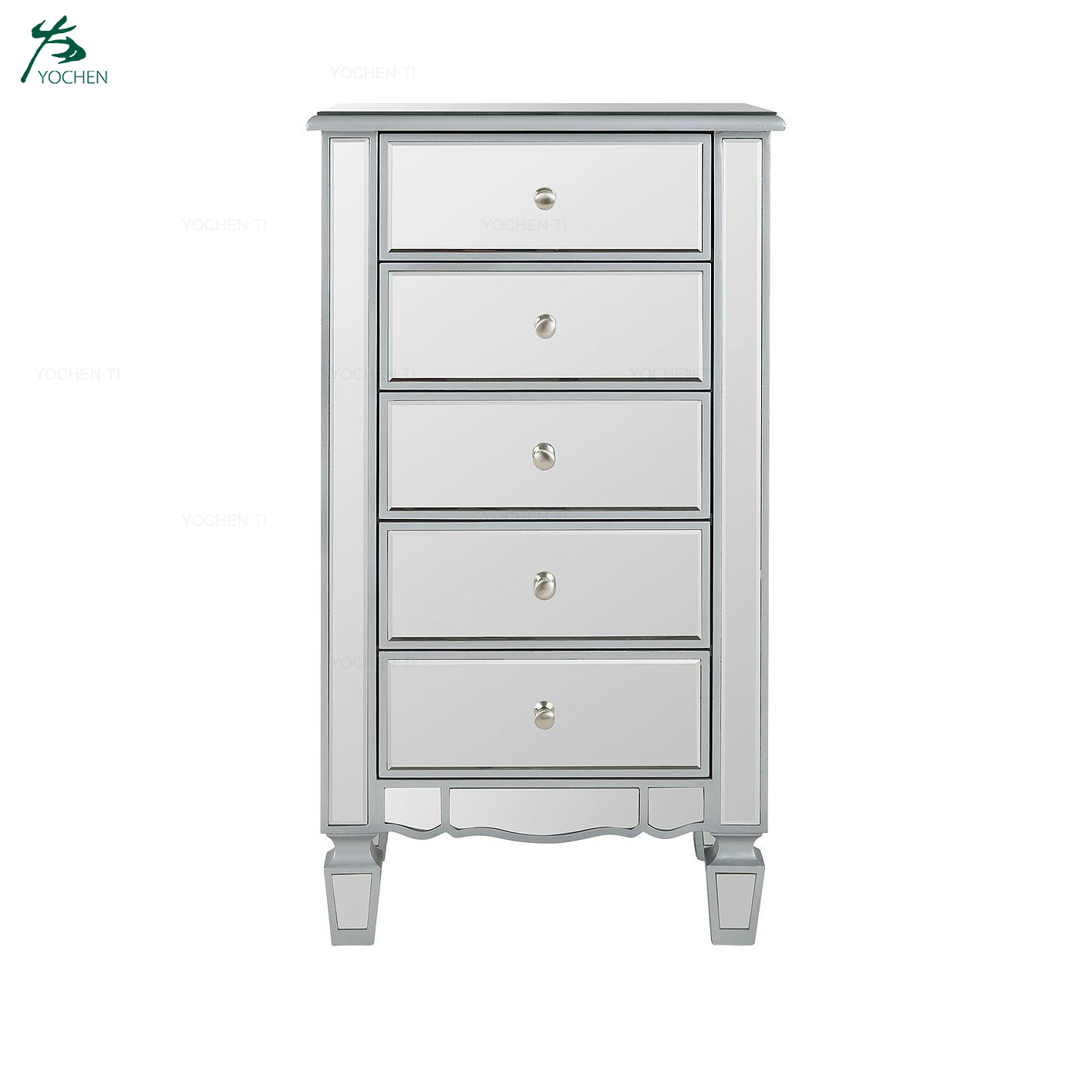Wholesale OEM Service Mirrored Dressing Table and Stool Set