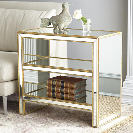 living room mirror cabinet side table