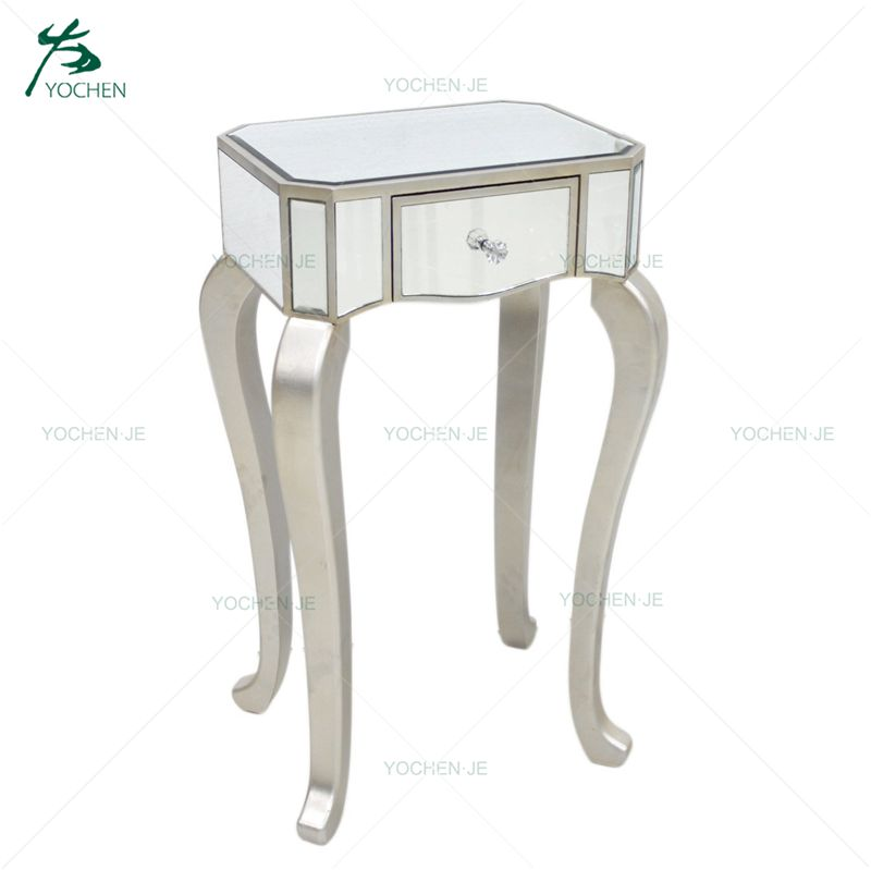 Handmade mirrored night stand mirrored bedside cabinet