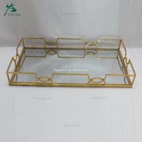 Table decorative metal square plate