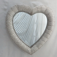 Antique Style Ornate Heart Large Wall Mirror