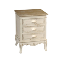Home Furniture Luxury Bedroom Furniture 3 Drawers Nightstands Cabinet Wooden Bedside Table