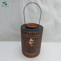 Home interior outdoor metal stand unique candle holders