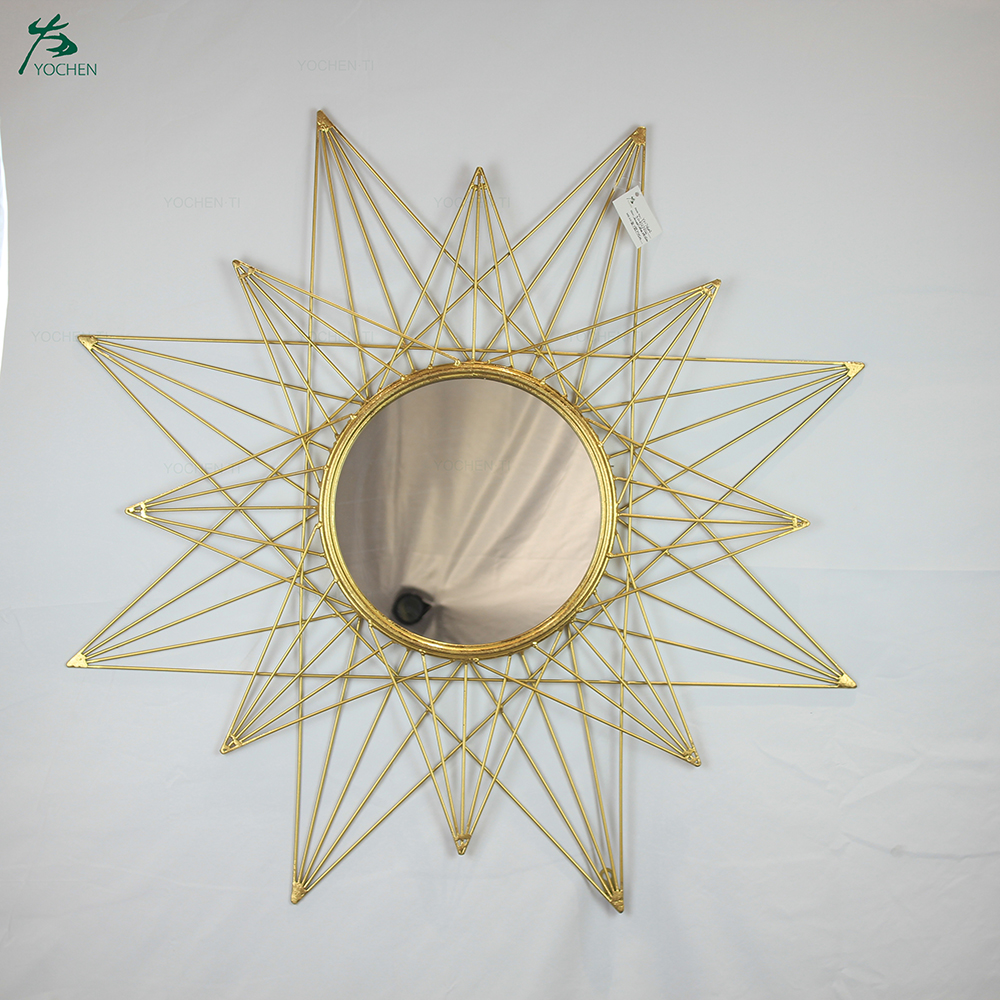 Sunburst Mirror Classic Metal Decorative Wall Mirror