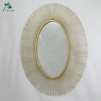 Living room large Vintage Gold Circle Wall Mirror