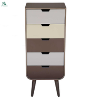 Rectangle modern 5 drawers wholesale tall wooden chest of drawers