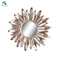Circular Decorative Large Round Wall Metal Mirror
