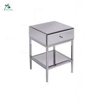 Home Funiture Stainless Steel Toughened Mirror Side Table