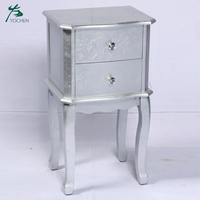 luxury bedroom furniture noble color painted nightstand