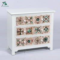 decorative liivng room furniture small cabinet with many drawer