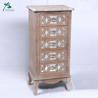 vintage furniture decorative living room cabinet narrow tall mirror cabinet