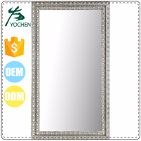 luxury clear rectangle shape highly welcome saloon mirror