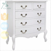 Shabby Chic White Wide 4 Chest Of Drawers