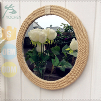 Rope Round Wall Mirror in 4mm Bevelled Mirror