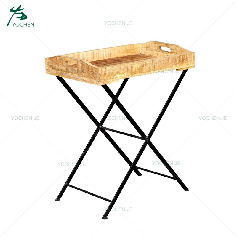 Wood Metal Stool Industrial Cast Iron Adjustable Dining Stool