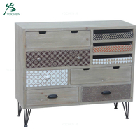 Wooden Furniture Home Storage Cabinet 5 Drawer Cabinet